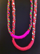 tri-braid neck lei's © Lisa Hilli