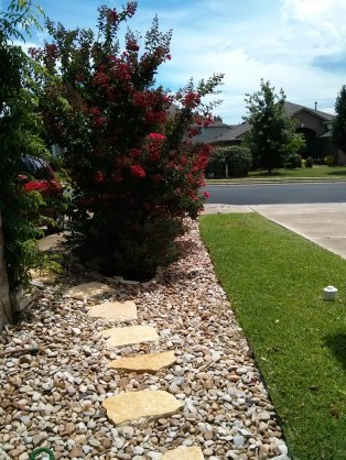 River rock and patio stone