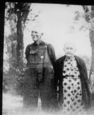 Black and white photo of Clara and William Haley in their later years - probably 1940's. William changed his name form George to William,
