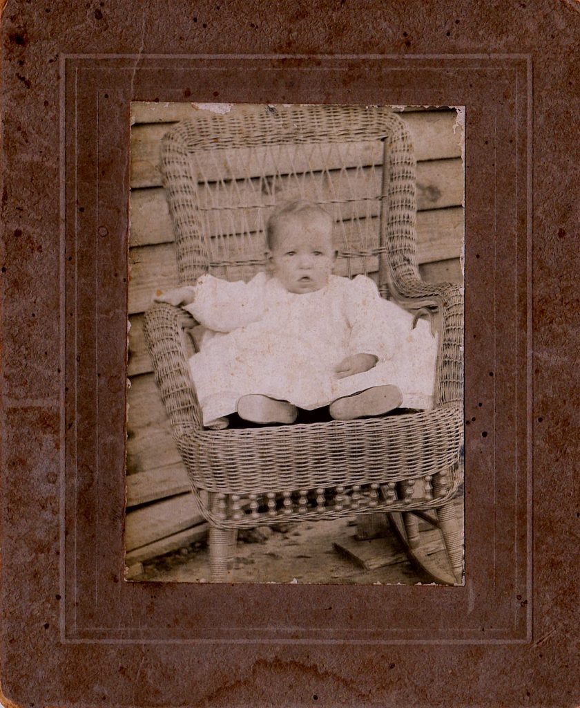 Antique cabinet card of baby