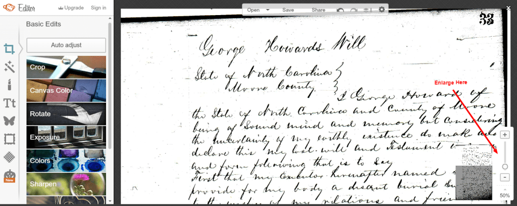 Will of George Howard