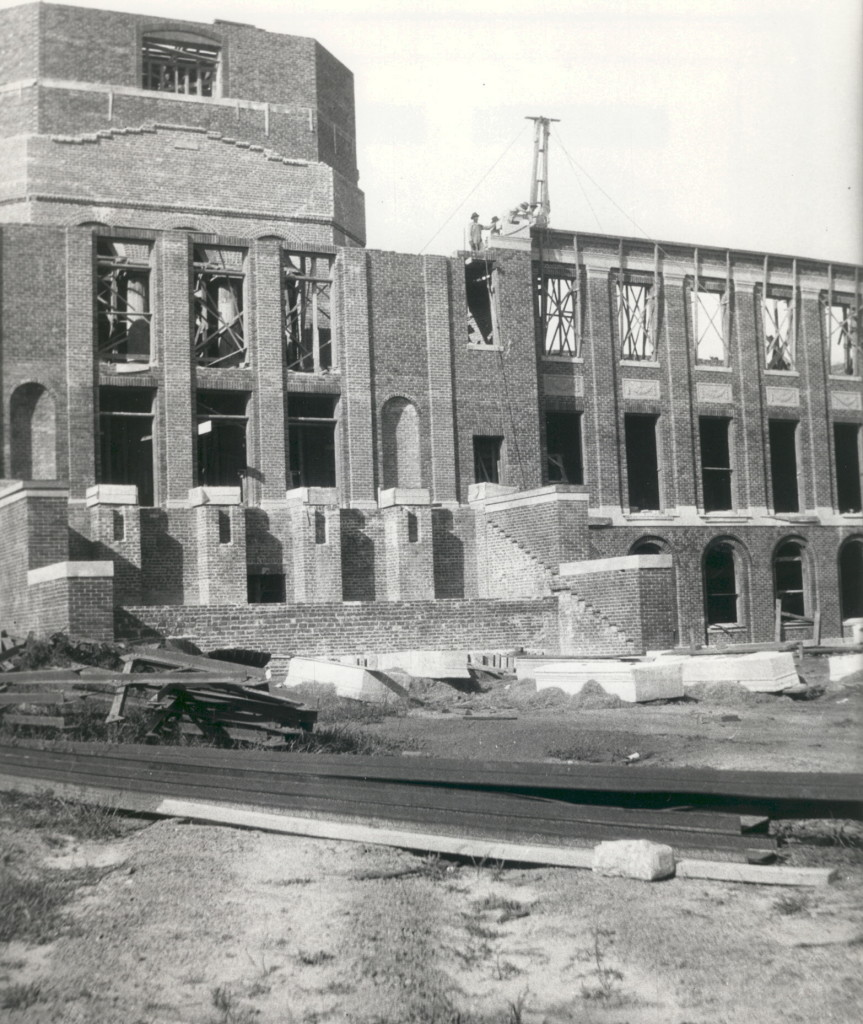 Construction of Johnson Hall, Meredith College ~ LisaLisson.com