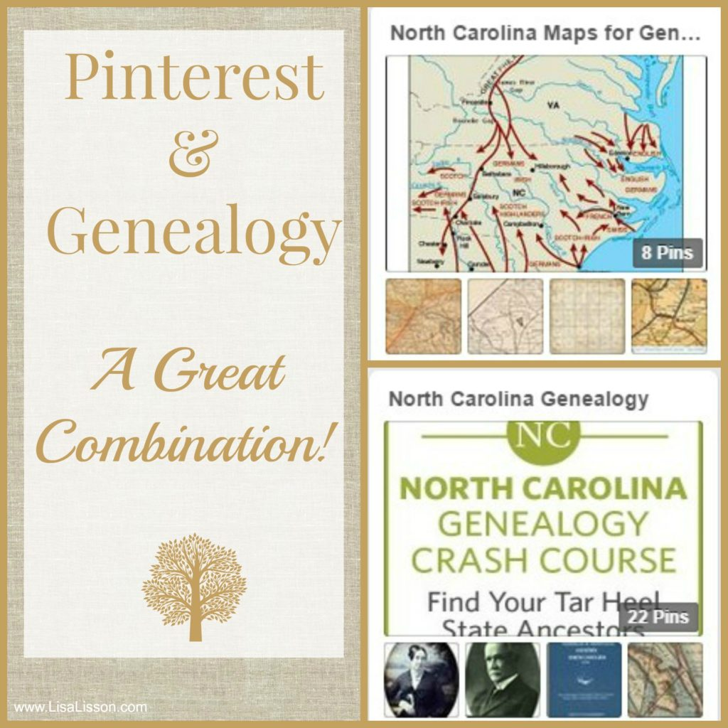 Pinterest and Genealogy - A Great Combination