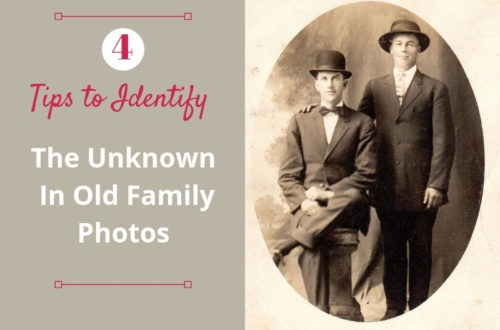 Genealogy and unidentified photographs seem to go hand and hand. Try these four tips to help you identify the individuals in your old family photos!
