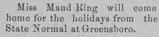 The Elkin Times Dec 1902 - Maud Ring