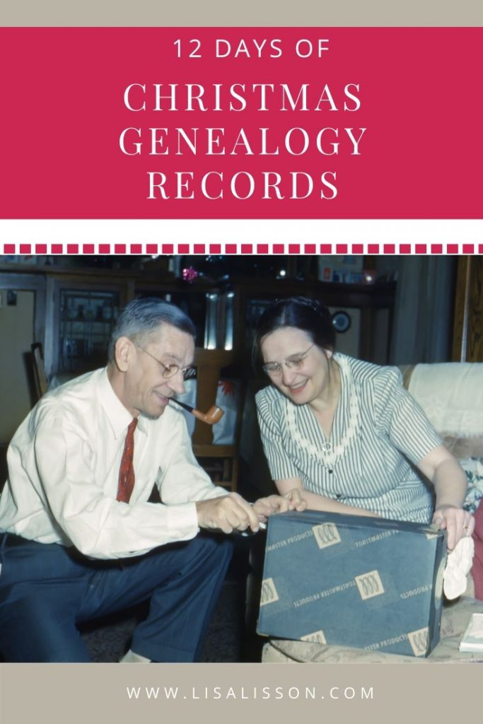 Trace your ancestors in their holiday records! Your ancestors's Christmas traditions created genealogy records you do not want to overlook.