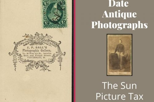 Not sure how old that antique photograph is? Learn how to use tax stamps to identify you old family photo.