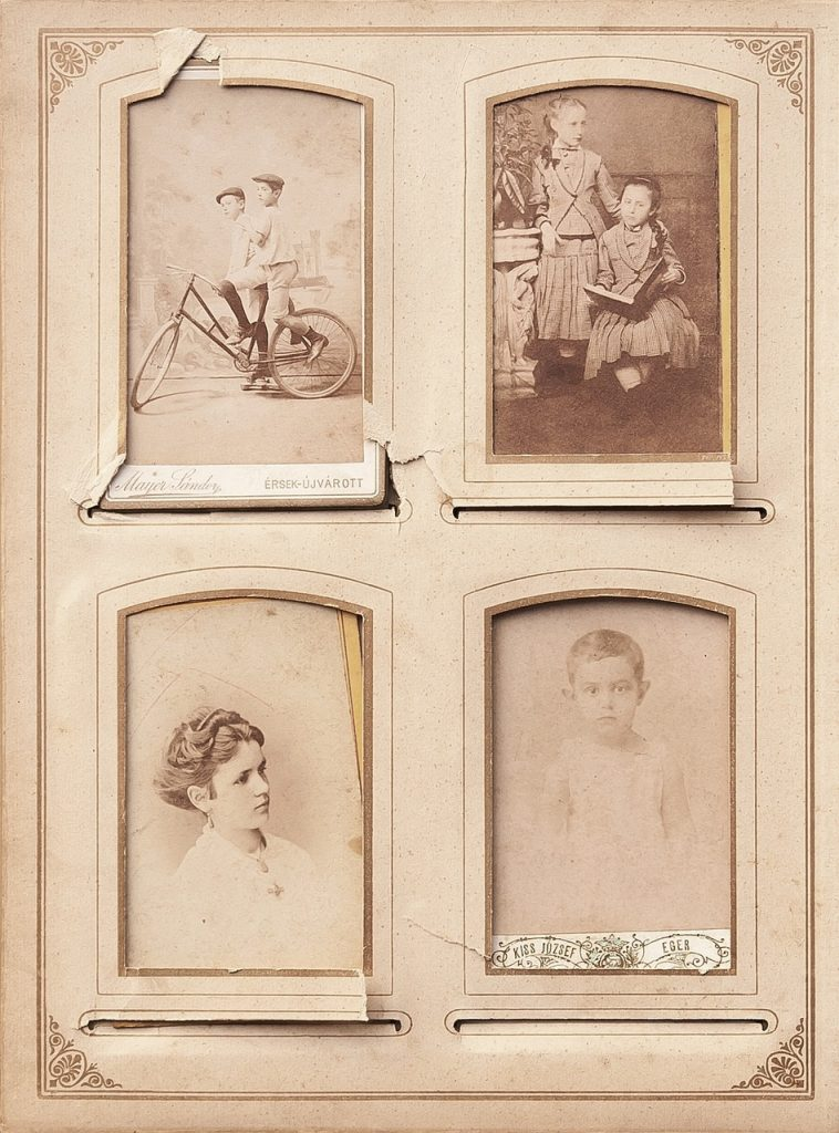 Old family photo album page
