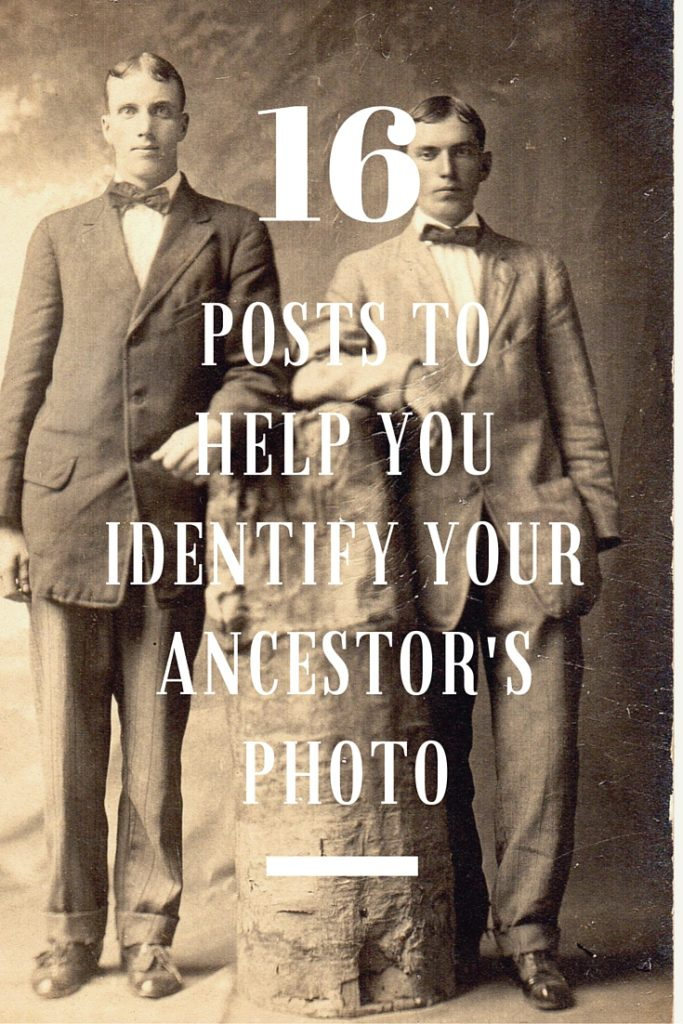 Techniques and strategies to identify old photographs. Find the age of a photo and other important clues to learn who is in your old family photos. #genealogy #oldphotos #familyphotos