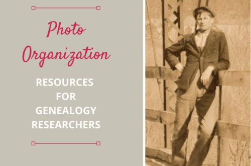 Photo organization resources for tips and strategies to help the genealogist and family historian finally get those photos organized.