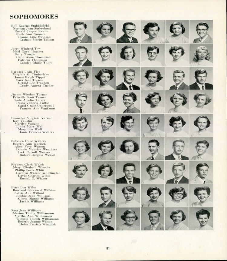 Greensboro High School Yearbook 1954