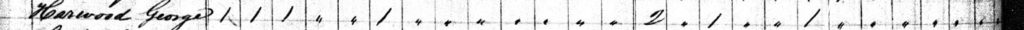 1830 Census George Harwood tick marks