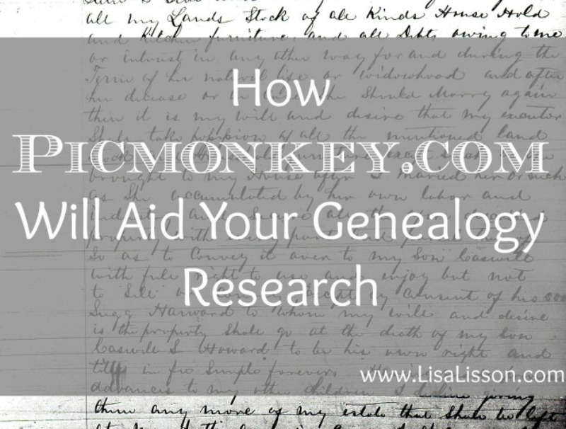 Using PicMonkey to edit images of historical documents used in genealogy research and make them easier to read and analyze. The document can be cropped, highlighted, sharpened, enlarged....Many possibilities exist to make your document more easily read.