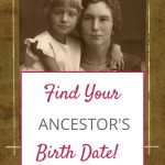 find an ancestor's birth date