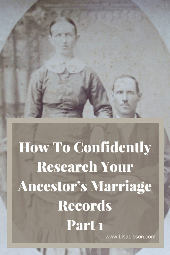 Finding an ancestor's marriage record is high on a genealogy researcher's list. Learn how to find those marriage records and genealogy tips to help your research. #genealogy #ancestors #familyhistory