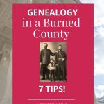 genealogy research in a burned county pin 5