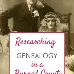 genealogy research in a burned county