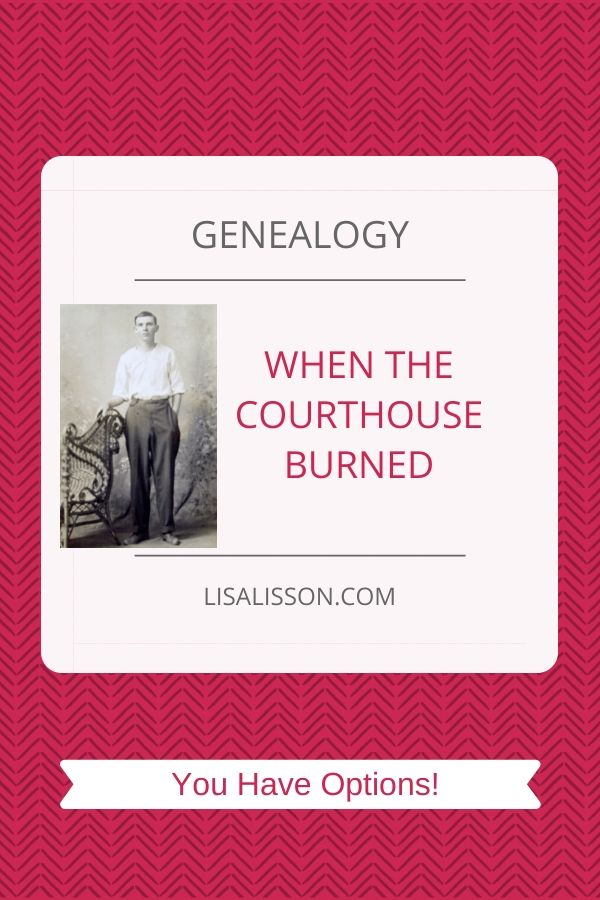 genealogy in a burned county pin