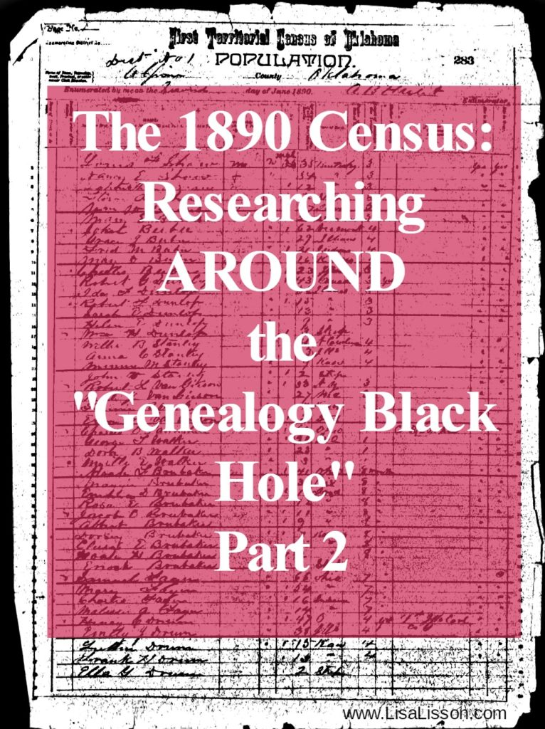 Help for finding your ancestors in the absence of the 1890 census records.