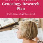 female genealogy researcher