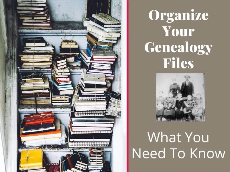 scattered books and genealogy files