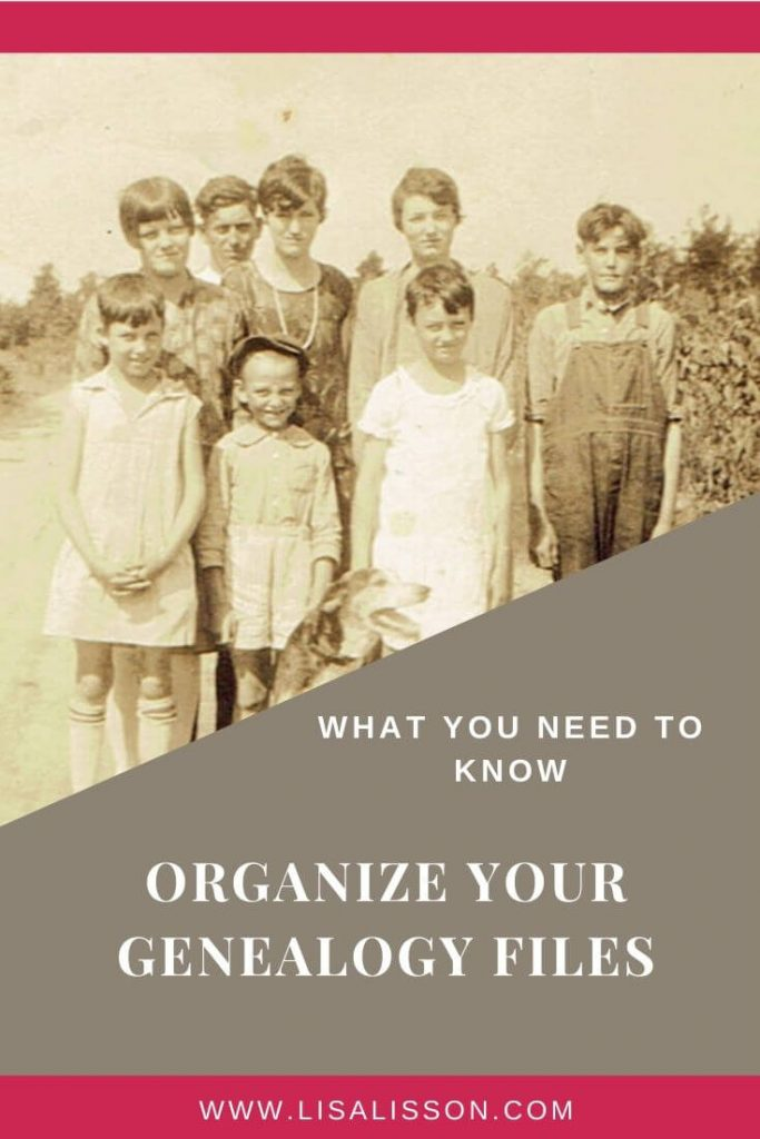 Are your genealogy files disorganized? Let's talk about what you need to know to organize your genealogy files.