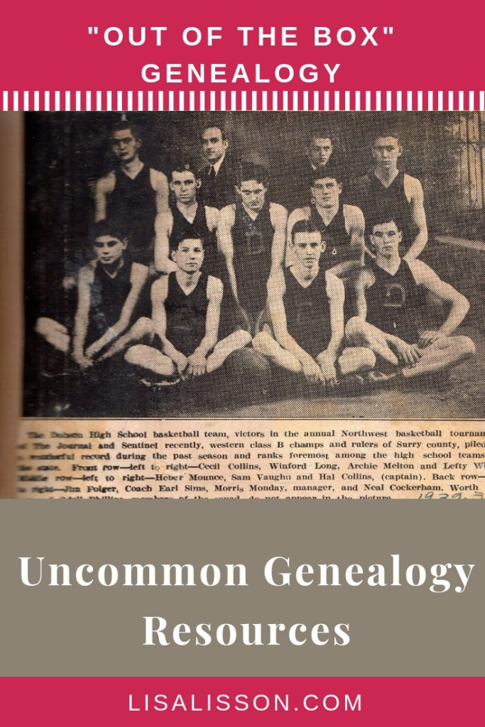 """Is your genealogy research stuck? Try these 6 uncommon or """"out fo the genealogy box"""" resources! You'll be glad you did.  #genealogy #ancestors #findyourancestors"""