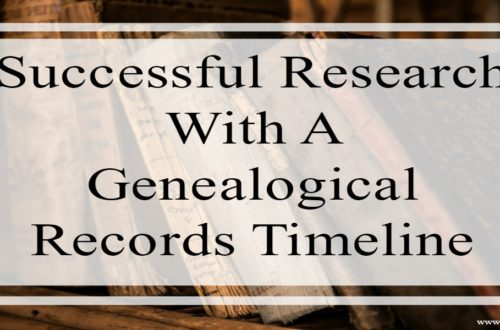 "A genealogical record timeline will save time, sharpen your research focus and ensure you do not miss pertinent records in your search. This is especially helpful if you are researching a ""new location"" for your ancestors regardless if you are ""crossing the pond"" or not."