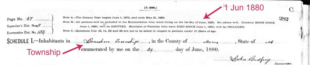 1880 Census header