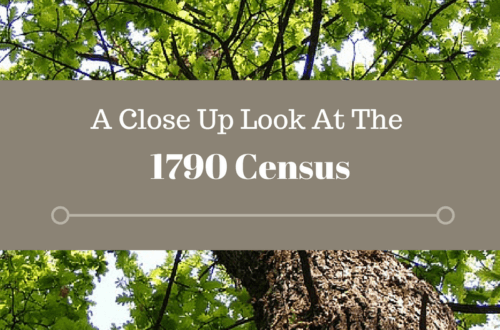 The 1790 census provides the earliest look at our ancestors in the census records. The 1790 census provides clues to our ancestor's family and neighborhood.
