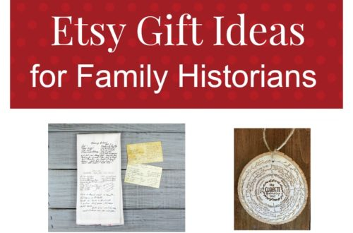 Find genealogy related gift ideas on Etsy! Focused on handmade and vintage items, Etsy is the perfect place to find unique gifts for the genealogist.