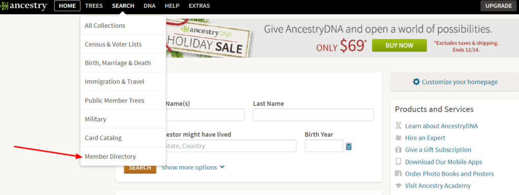 Use Ancestry.com's Member Directory to find other genealogy researchers with your research interests. It might be just the jump start your research needs.