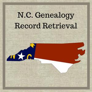 North Carolina Genealogy Record Retrieval