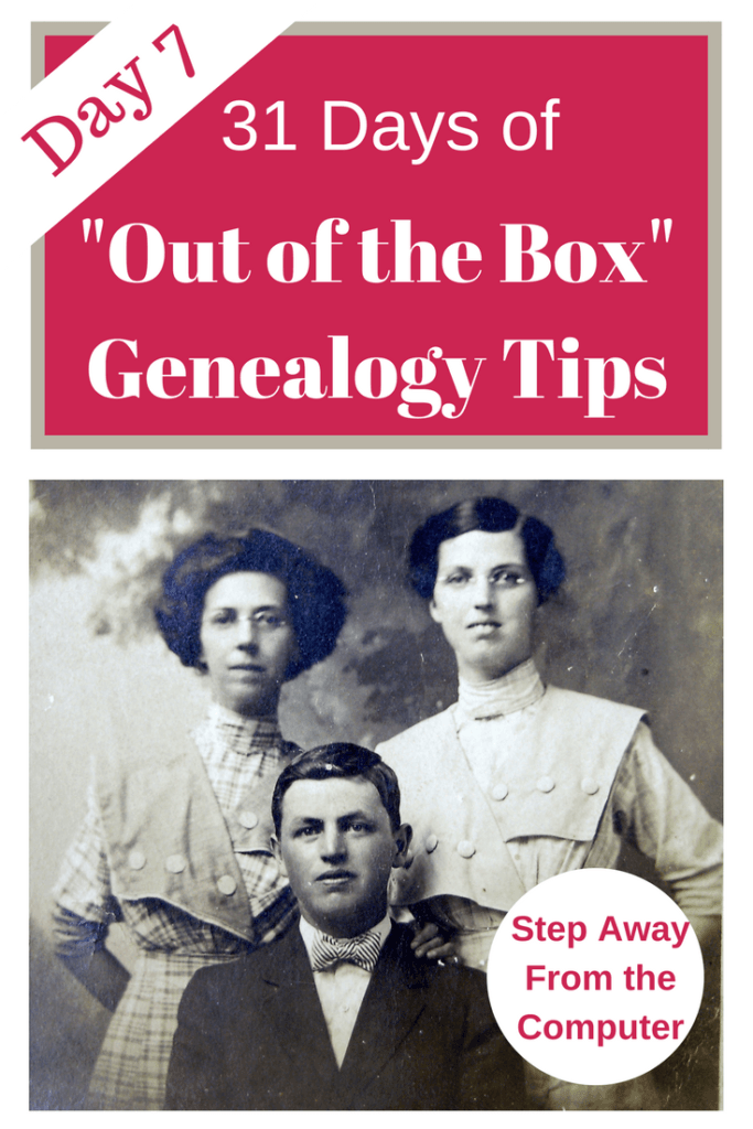 Unplug your genealogy in order to jump start your research! Stepping away from the computer gives you a chance to return to your research with a fresh eye. #genealogy #genealogytips #areyoumycousin #ancestors #familyhistory