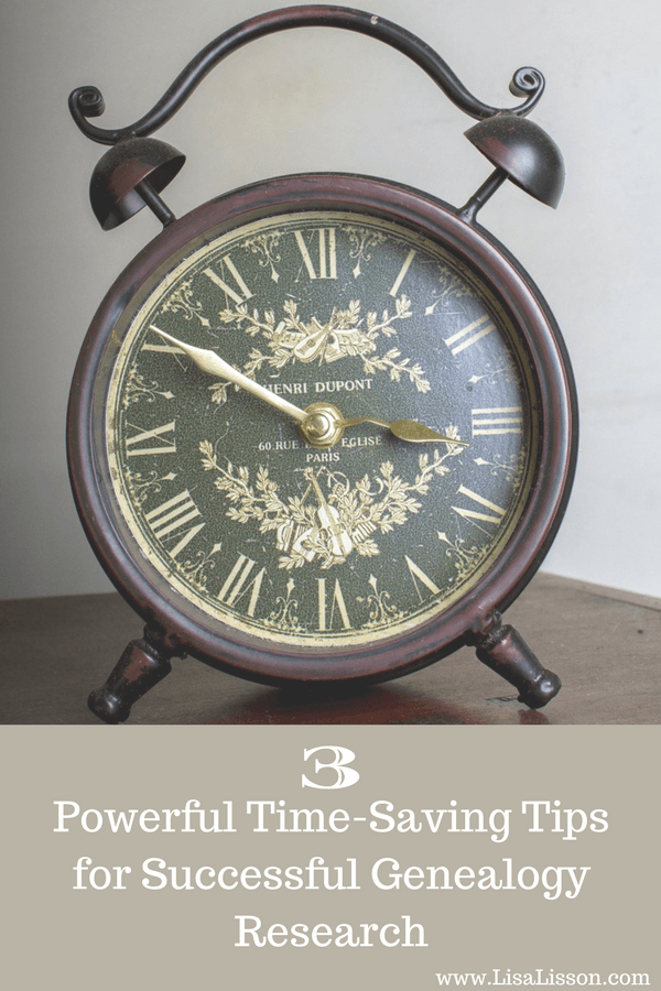 Genealogy research can be time consuming. Explore 3 time-saving tips for your genealogy research. Learn how to be a more efficient and productive researcher.