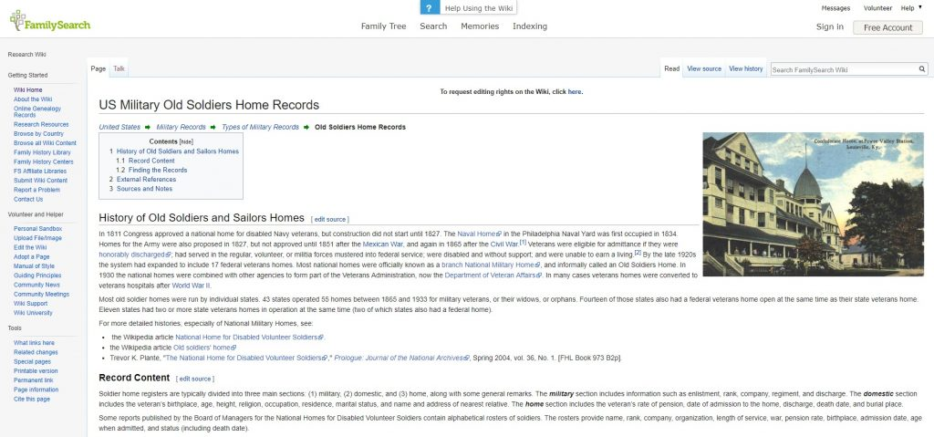 FamilySearch Wiki Screenshot