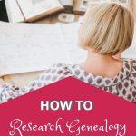 woman research genealogy
