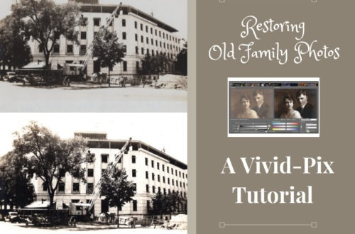 "Restore your old family photos and discover new clues to your family history! ""Fix Your Pics"" with Vivid-pix software and preserve those precious photos! #genealogy #familyphotos"