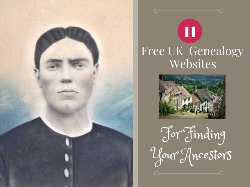 Get started finding your UK ancestors the frugal way. Free genealogy websites for you your UK genealogy research. #genealogy #free #ancestors