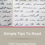 reading old handwriting for genealogy