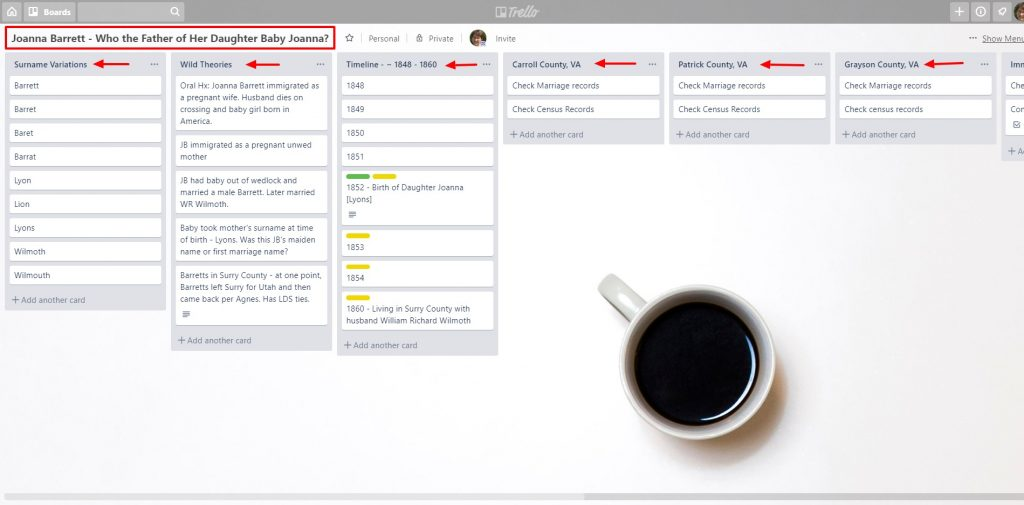 Need help finding your ancestors? Try this guide to using Trello for planning your next genealogy research project.