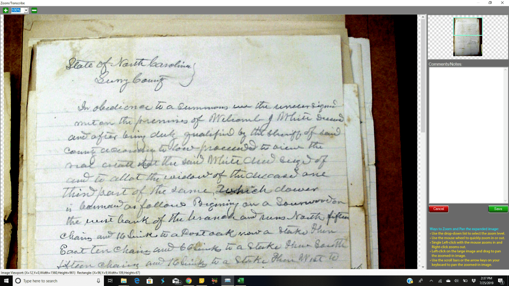 Vivid-Pix Transcribing Old Documents