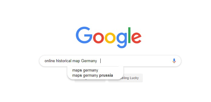 Google Search for Historical Maps