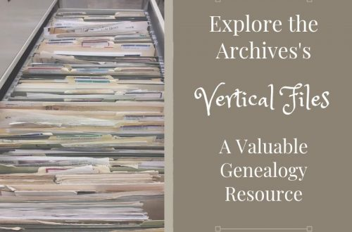 Stuck trying to find clues to your ancestors? Include the archives' vertical files on your research plan! You might find copies of a previous family historian's notes, family Bible pages, transcribed documents and more!