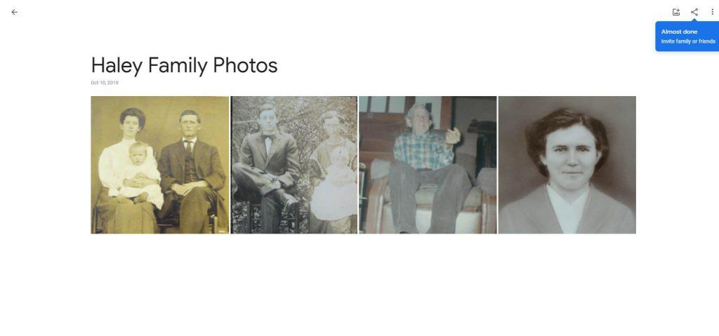 Example of Google Photo Album
