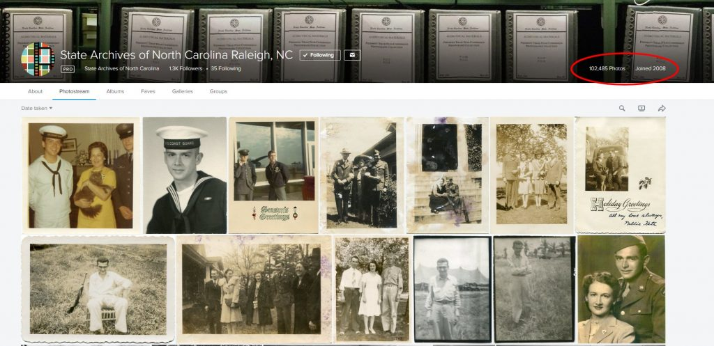 NC Archives Flickr page