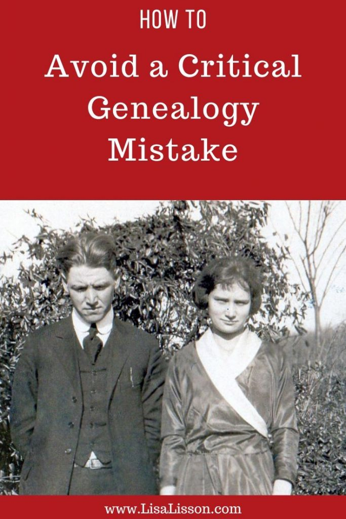 Is your genealogy research stuck? Maybe you made this critical genealogy mistake.