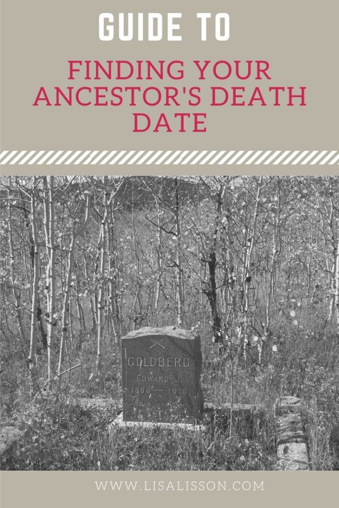 Finding an Ancestor's Date of Death