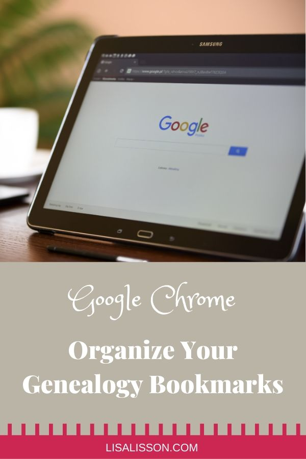 Want to streamline and organize your genealogy research process? Learn how to organize your Google Chrome bookmarks.