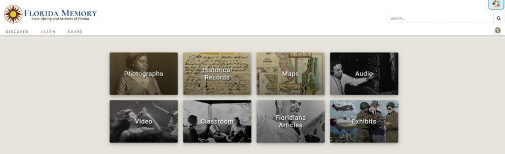 Florida Memory Homepage